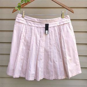 NWT The Limited Cotton Pleated Preppy Pink Skirt 6
